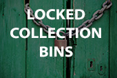 locked collection bins