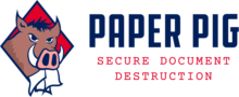 Paper Pig Shredding Logo